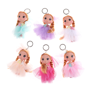 1PC Hot Car Key Ring Cute Doll Action Figure Toy Mini Dolls Toys Keychain Princess Dolls For Girls Anime Brinquedos Gift 12CM image