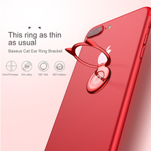 Baseus Cute kawaii Phone Holder For iPhone 6 7 Samsung S8 Desktop Stand Ultra thin Finger Ring Magnetic