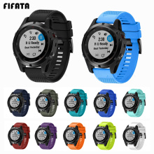 FIFATA 26 22 20mm Smart Watchband Strap For Garmin Fenix 5X 5 5S 3 3HR D2 S60 GPS Watch Quick Release Silicone Easyfit Wristband
