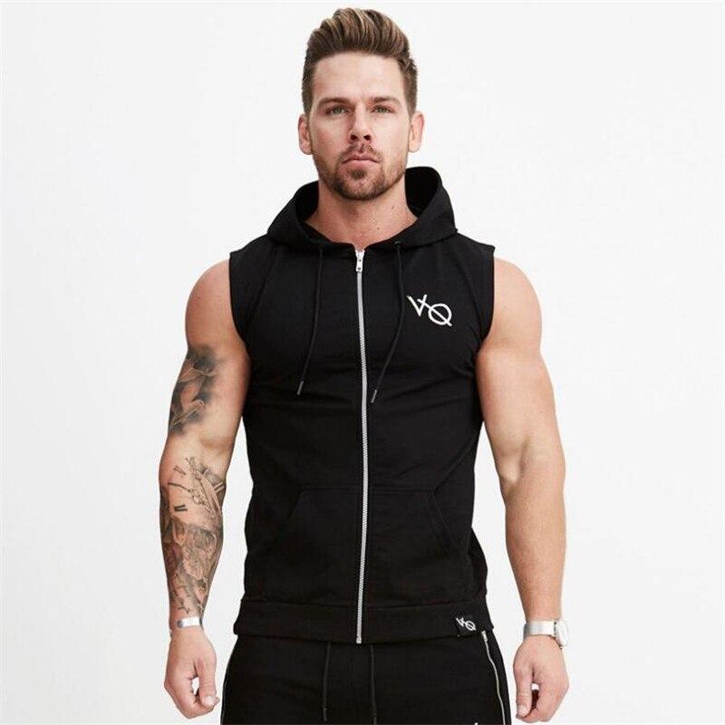 Nuovi Uomini di Fitness Bodybuilding Serbatoio Magliette e camicette Senza Maniche Felpe Gilet Palestre Abbigliamento Canotta In Cotone Camicette di Modo Vestiti Allenamento
