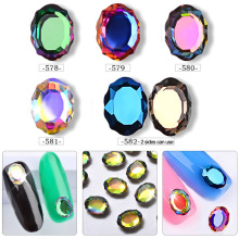 Pandahall 10 Pcs Magic Mirror AB Crystal Rhinestones Nail Art Decorations 3d Charm Nail Jewelry Manicure Tools цена 2017