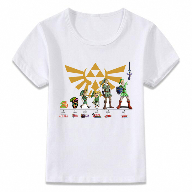 Kids Clothes T Shirt Link Evolution Zelda
