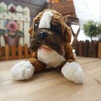 Children'S Toys Pillow Birthday Gifts Rare Boxer Dog Plush Doll Animals Toy Good Quality