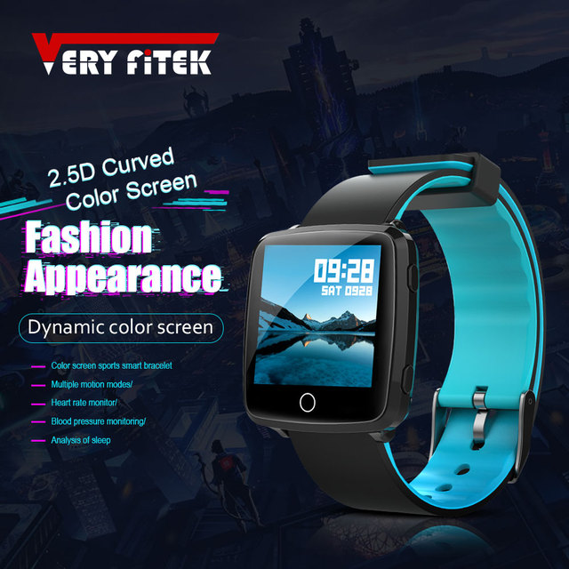 VERYFiTEK Smartwatch Blood Pressure Heart Rate Monitor Men Women Sport Watch Pedometer Stopwatch Smart Watch for IOS Android