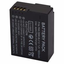 1800mAh Replacement Battery DMW-BLC12 DMWBLC12 For Panasonic Lumix G6 G5 G7 FZ1000 Battery Pack