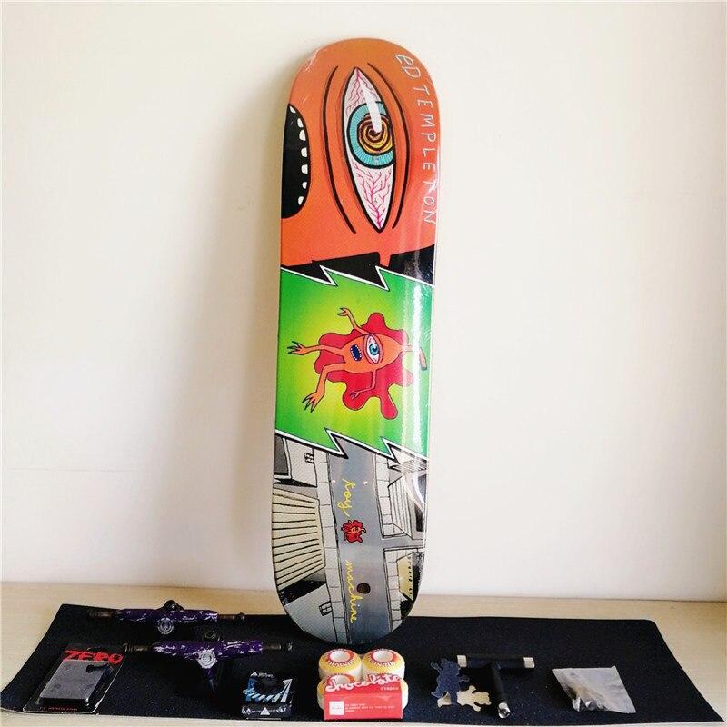 Completato Set di Skateboard Deck Toymachine Skate Decks 5.25 Camion 52mm Ruote e Cuscinetti Più Fissaggi Riser Pad