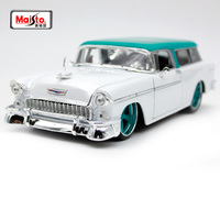 Maisto 1:18 1955 chevrolet NOMAD car diecast luxury classic car model Vintage car model Toy car model Tracking information