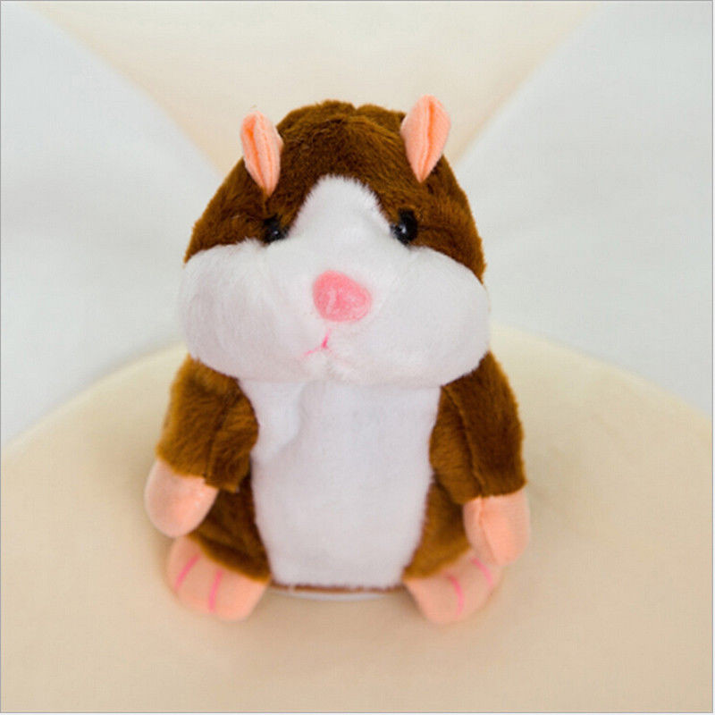New Talking Hamster Repeats What You Say Plush Hamster Repeats Doll Toy Kid Gift