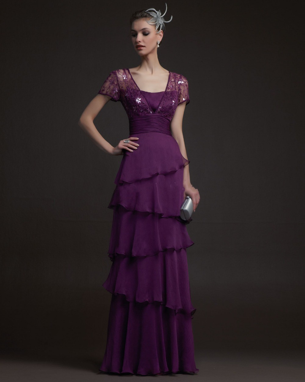 7b2e7873fcb23 Amazing Formal Beautiful beaded short sleeves lace special design ...