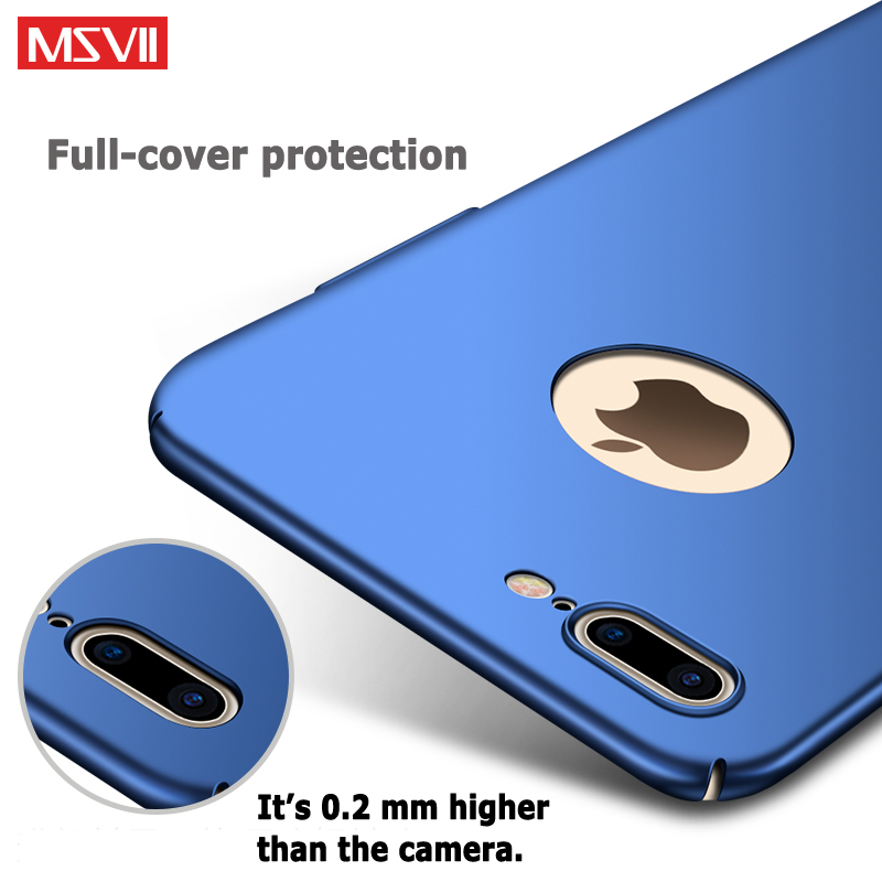 For iPhone 7 8 Plus Case Cover Luxuru Silm Scrub Hard PC Back Cover For Apple iPhone7 7Plus 8 8Plus Cases Protector Phone Coque in Fitted Cases from Cellphones Telecommunications