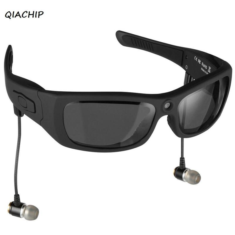 QIACHIP Eyewear Sunglasses Mini Camera Support TF Card Video Recorder DVR MP3 Camcorder Music glasses with Bluetooth Headset H3 eyewear sunglasses camera support tf card music video recorder dvr dv mp3 camcorder music glasses with earphone
