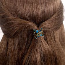2017 New Listing Alloy hairpins Crab claw clip Retro Mini Butterfly Headband hairpin Women's Hair Accessories 1 pcs