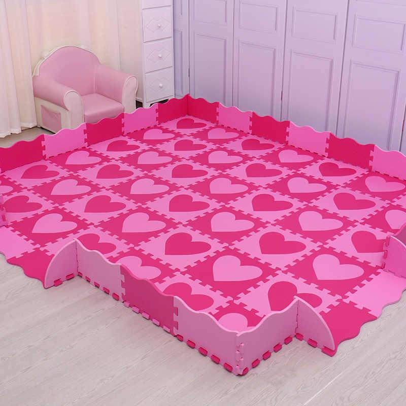 Mei QI cool 30 см * 30 см * 1 см игровой коврик eva материал детский игровой коврик Поролоновый мат детский коврик-головоломка ковры и коврики