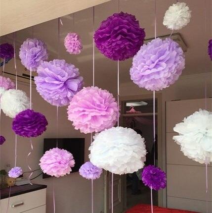 Us 0 41 14 Off Hot Sale 1 Pcs 15cm 6 Inch Tissue Paper Flowers Paper Pom Poms Balls Lanterns Party Decor Craft Wedding Multi Color Option Balls In