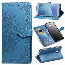 Çapa Samsung Galaxy J7 2017 Kılıf J730 için cüzdan kılıf Standı Deri Telefon Samsung kılıfı Galaxy J7 2017 AB/J7 Pro j730 kapak