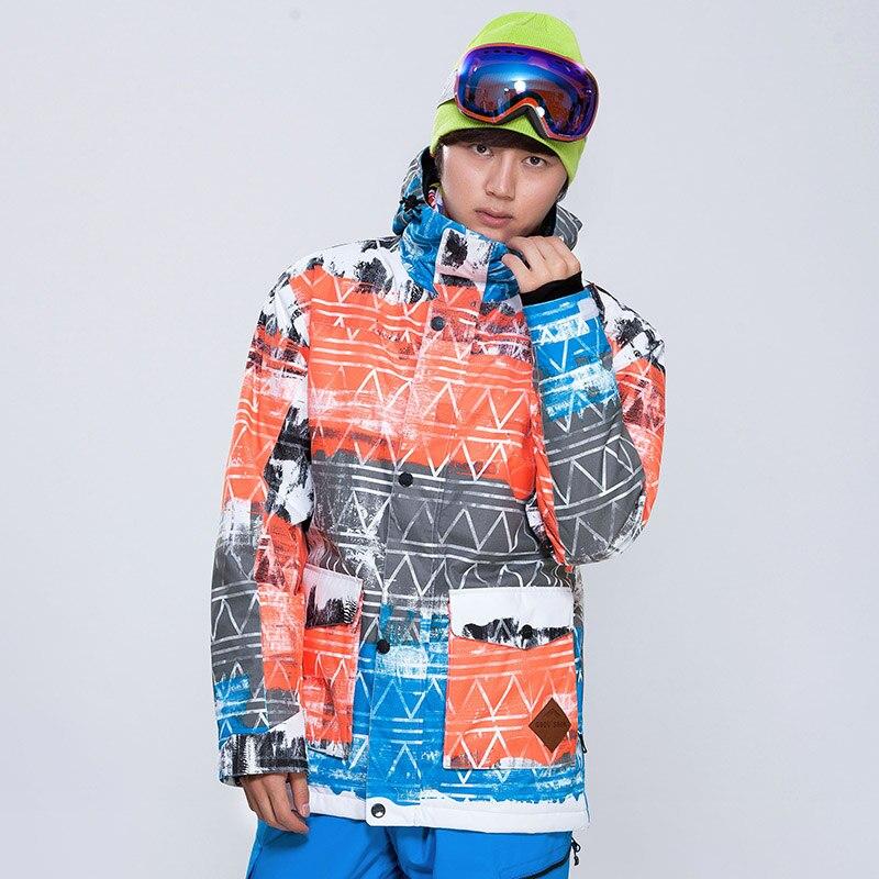 Prix pour Livraison gratuite Gsou Neige Nouveau sport d'hiver Hommes ski veste double planche de Snowboard costume coupe-vent imperméable respirant veste de ski