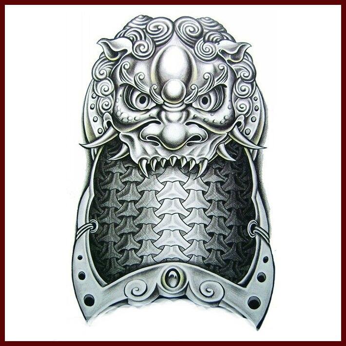 Factory Wholesale Black Armor Printing Temporary Tattoo Sticker