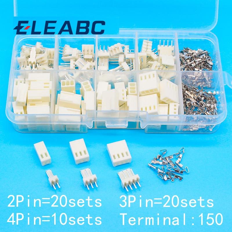 KF2510 2.54 4-Pin Female Housing Connector Plug Wire /& Male PCB HEADER 10 Ensembles
