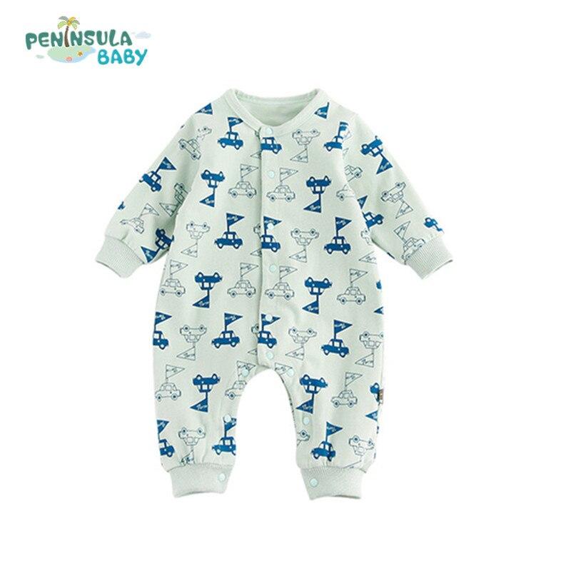 ✅2018 Spring Children Pajamas Baby Rompers Newborn Infant Cartoon ...