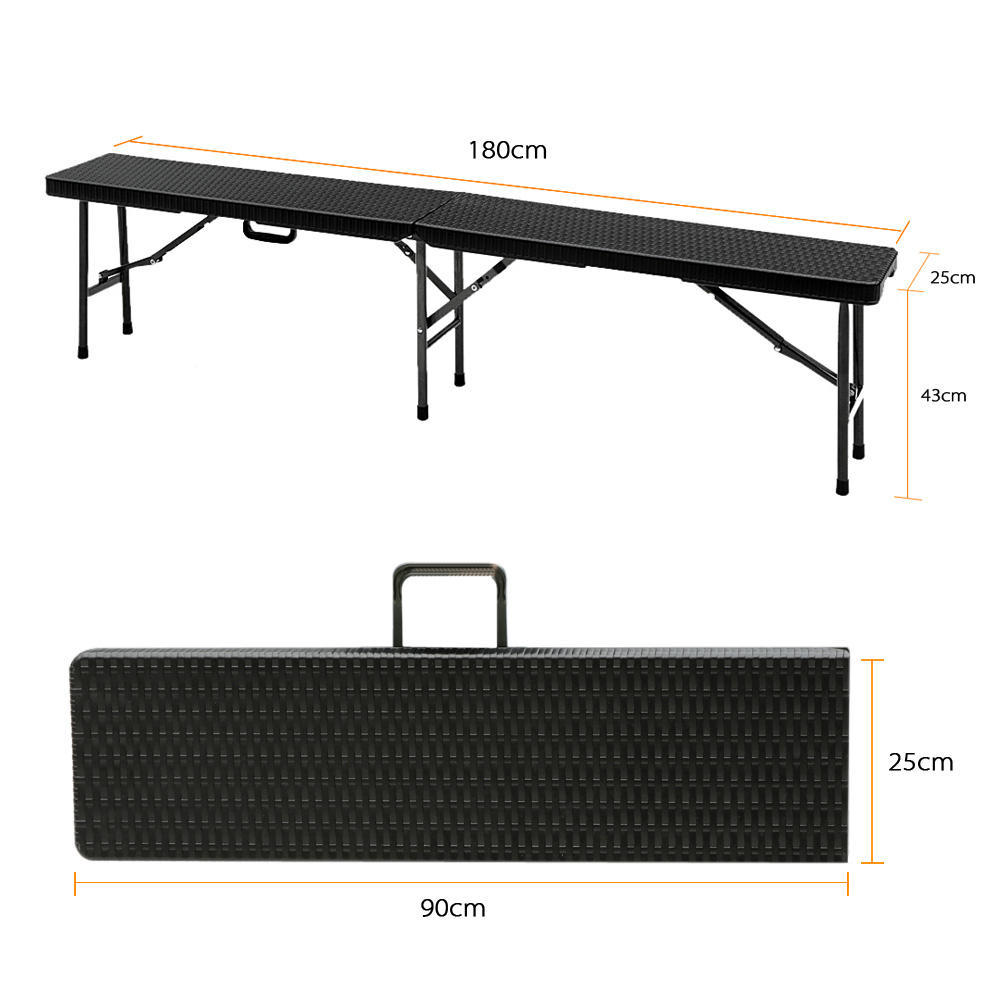IKayaa 6FT Long Portable Folding Camping Picnic Bench Heavy Duty Garden  Party Dining Bench Outdoor Furniture US FR DE Stock In Patio Benches From  Furniture ...