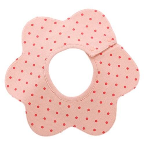 Baby Bib Cotton Bandana Bib Infant Bib Saliva Bib Towel(pink)28*24cm