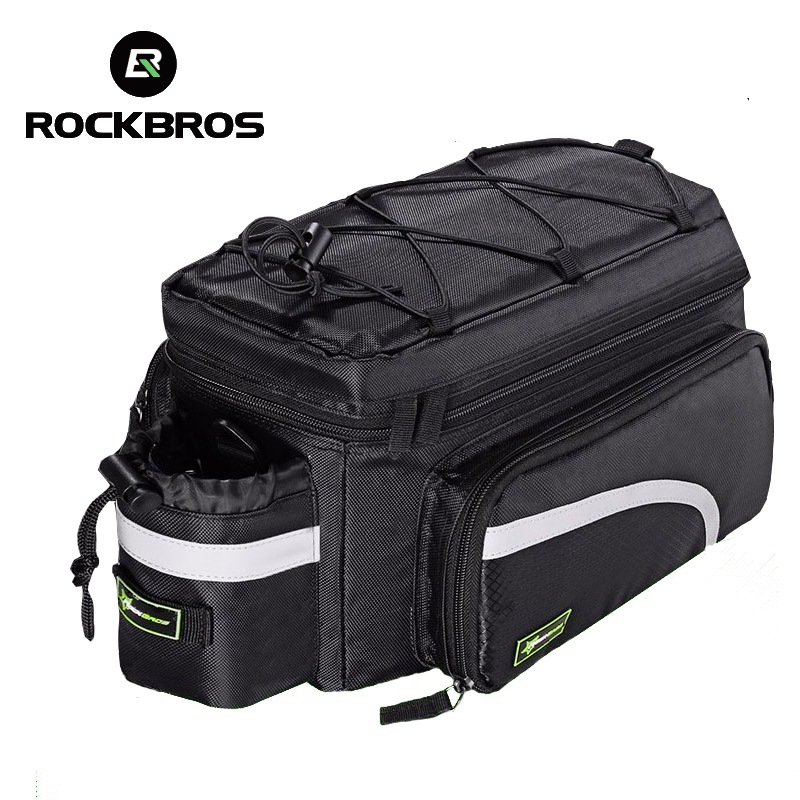 2017 ROCKBROS cycling bag waterproof pannier Large capacity package bicycle bag rear seatpost Tail Bag bicycle accessories rockbros large capacity bicycle camera bag rainproof cycling mtb mountain road bike rear seat travel rack bag bag accessories