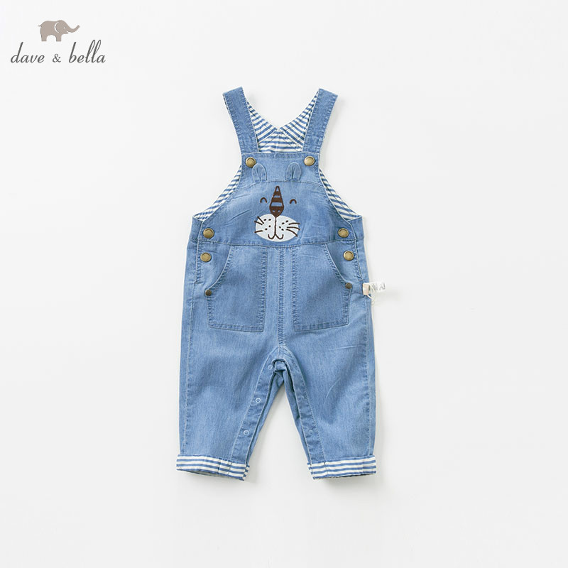 DBA9530 dave bella baby spring overall boys fashion soft overalls children boutique jumpsuit