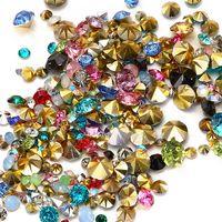 Gemischte Größen 1000pcs Viele farben zu wählen Punkt Zurück Harz Strass Runde Glitter Perlen Für Schmuck Machen DIY Liefert