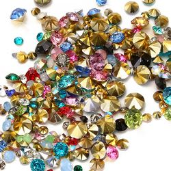 Mixed Sizes 1000pcs Many colors to choose Point Back Resin Rhinestones Round Glitter Beads For Jewelry Making DIY Supplies