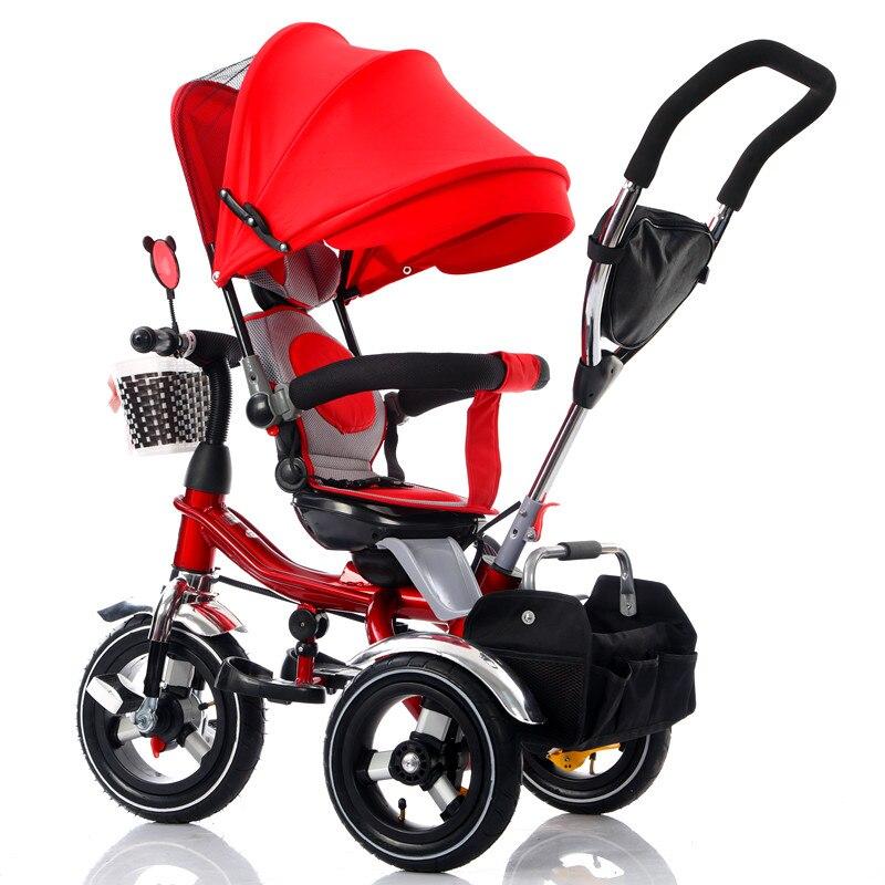 Poussette bébé tricycle pour enfants 1-3-6 poussette à trois roues pliante pour enfants