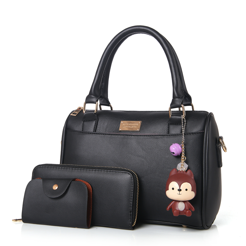 3Set Boston Women Top-Handle Bags Handbags Women Famous Brands 2017 Fashion Wome