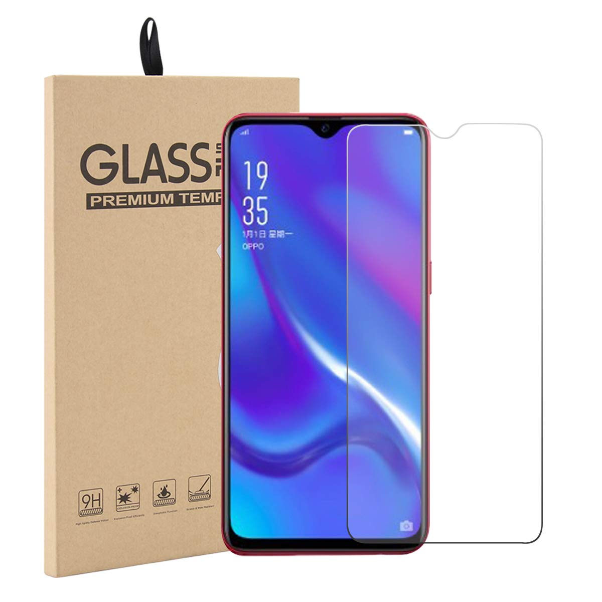 9H 2.5D Tempered Glass Smartphone For OPPO K3 Protective Film Screen Protector cover phone For OPPO A9 A1K A9X A5S image