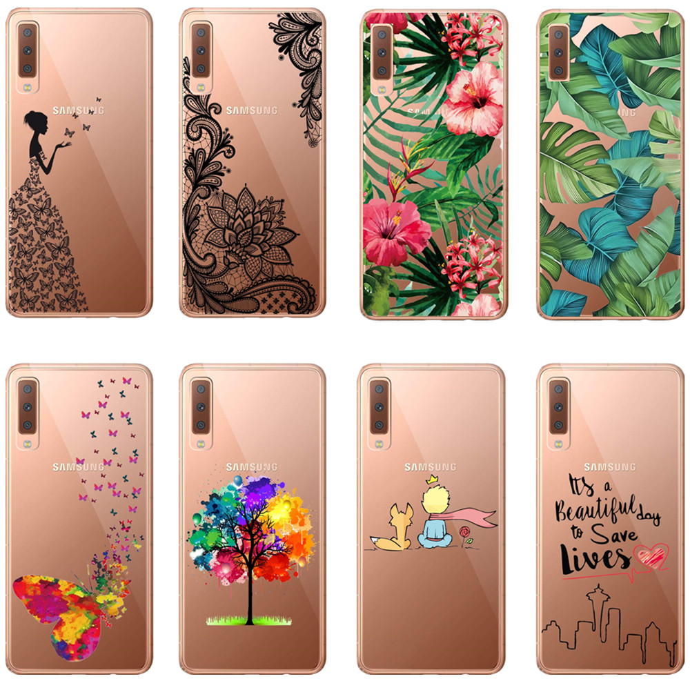 LOVINA CASES Cute Cartoon Soft silicone <font><b>Back</b></font> <font><b>Cover</b></font> Case For <font><b>Samsung</b></font> Galaxy S5 S6 S8 S7 Edge S9 Plus A6 A8 Plus 2018 A7 2018 A750 image