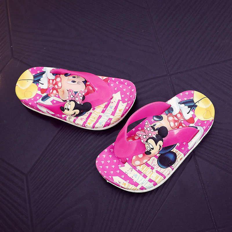 ฤดูร้อนเด็กผู้หญิง Minnie Princess PVC Beach รองเท้าแตะ SLIP flip flop 2 สี XQ01
