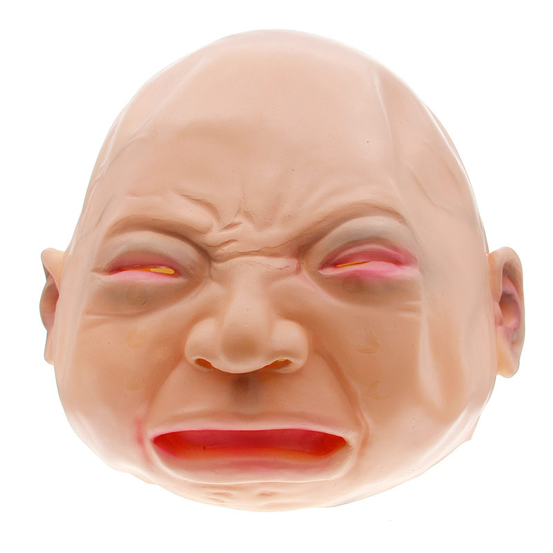 Novelty & Gag Toys Apprehensive Costume Halloween Full Head Face Mask Unisex Latex Scary Crying Mask Creepy Cry Baby Practical Jokes Funny Party Cosplay #251011 Gags & Practical Jokes