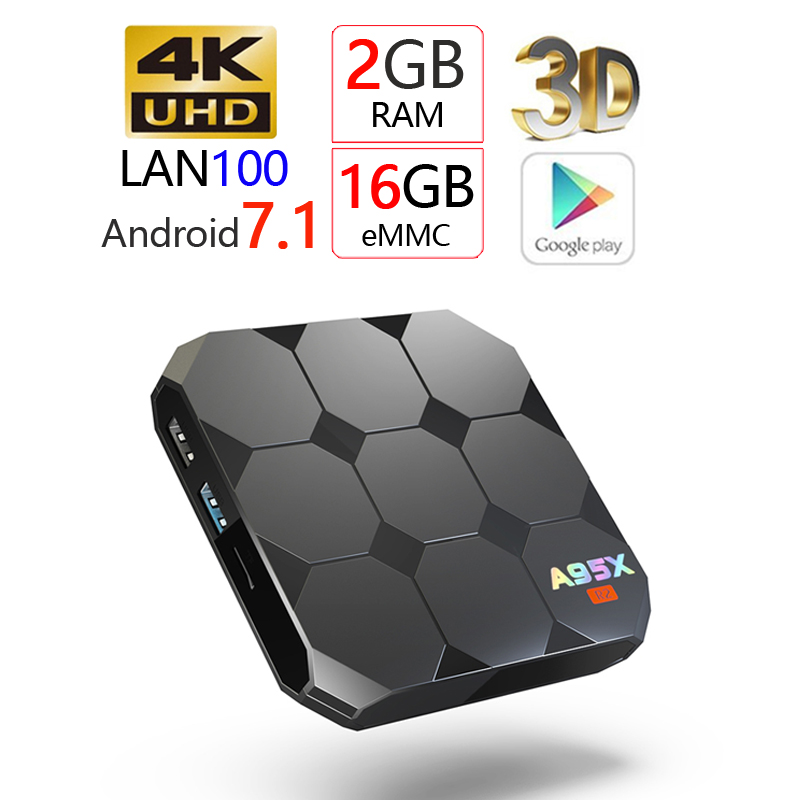 goodcee A95X R2 Android 7.1 Smart TV Box Wireless WIFI TV Box 4K ultra HD Amlogic S905W Wifi 2G 16G 3D Set Top Box Andorid H96 a95x a1 4k tv box tronsmart tsm01 air mouse