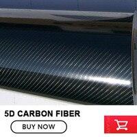 Carbon Fiber 5D 1 52x30M Glossy Carbon Fiber Vinyl Film Auto Wrapping Vinyl Wrap Foil Car