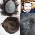 Super thin skin 0.06mm pu v loop natural headline pu thin skin men toupee/ men hair replacement/ men hair pieces/men wig