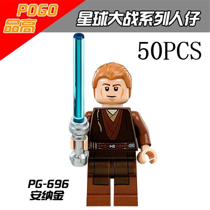 gifts Star Wars Pogo XINH Wholesales PG696 Anakin Skywalker 50PCS Building Blocks Bricks Toys Action Figures compatible legoe