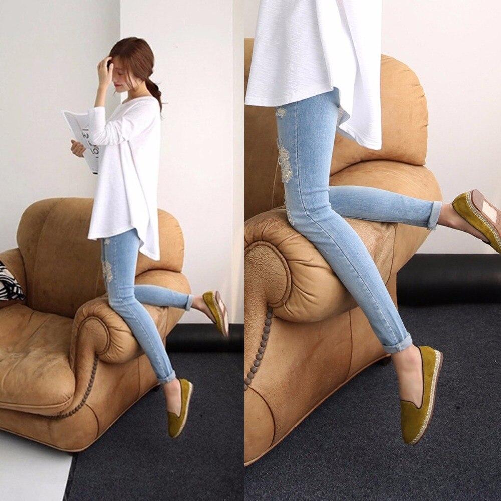 ad3f21267 Puseky Jeans maternidad pantalones para las mujeres embarazadas pantalones  de ropa de Enfermería del vientre Legging embarazo ropa overoles Pantalones  ...