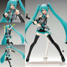 15cm Movable Anime Action Figure Hatsune Miku Figma 014 Model Doll Figurine PVC Action Figure Model Toys free shipping new star wars revo 005 boba fett action figure model 15cm pvc action figure doll toys kids gift brinquedos