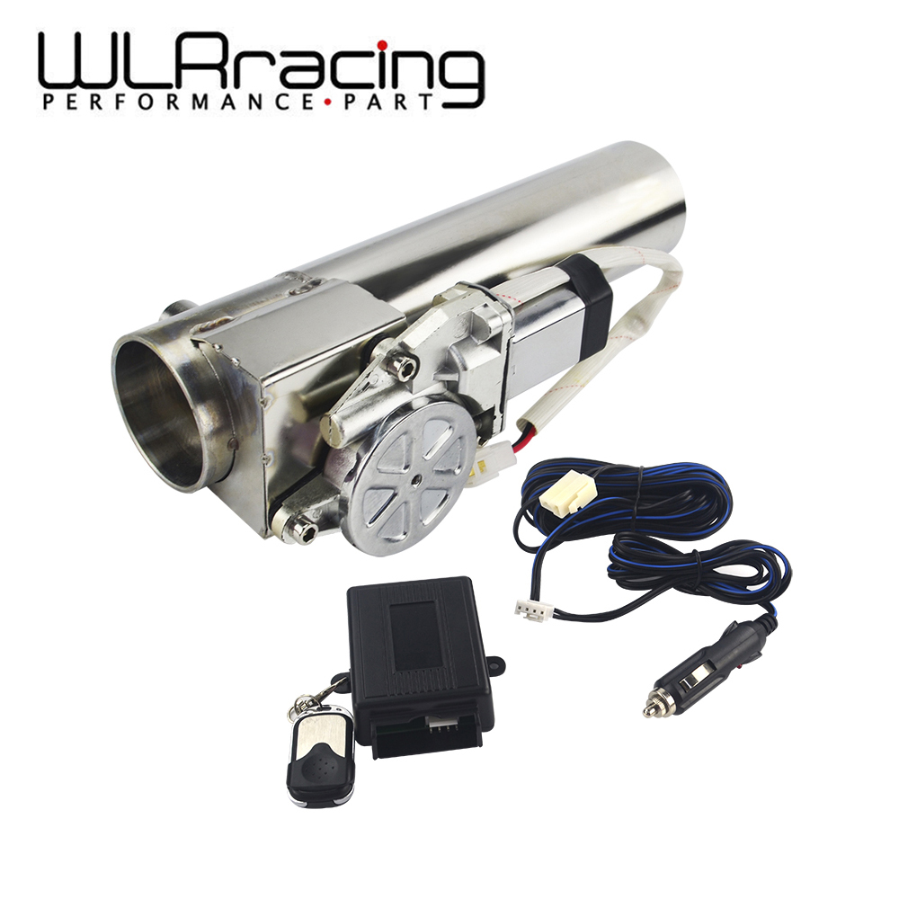 WLR Racing - Universal 2.5'' or 3'' Exhaust Pipe Electric I Pipe Cutout Exhaust Cutout with Remote Control Wholesale Valve