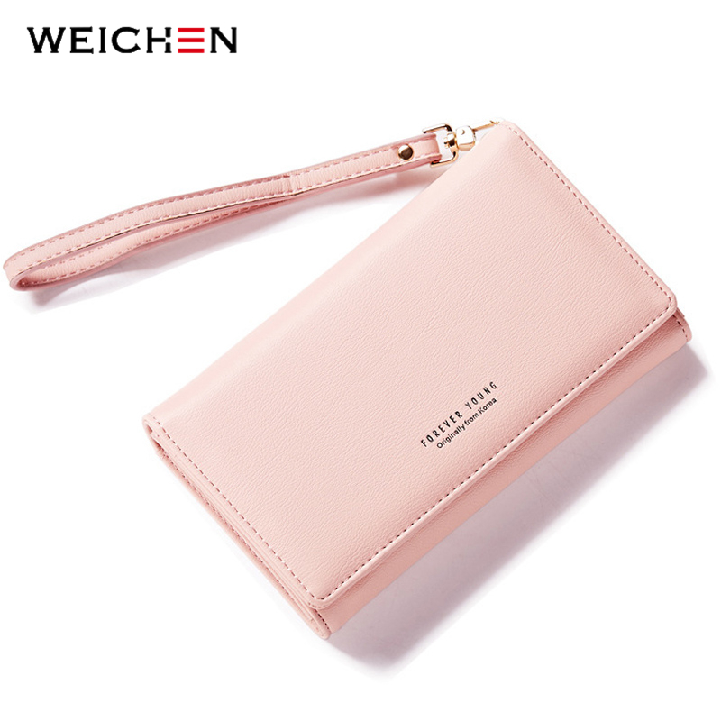 WEICHEN Woman Purse Card Holder Wallet Wasit Money Purses Brand Designer Long Wallets Card Holder Munfactional Bags Ladies american tv series mr robot 3d woman man wallets purse the the punisher skull purses cluth creadit card holder