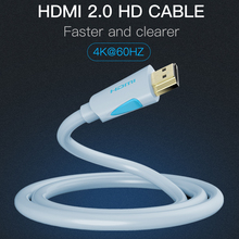 Vention HDMI Cable 2.0v 1m 2m 3m 5m 8m 10m Super Speed 4K HDMI 2.0 Cable 3D 60HZ For HDTV LCD Projector Laptop PS3 Cable HDMI