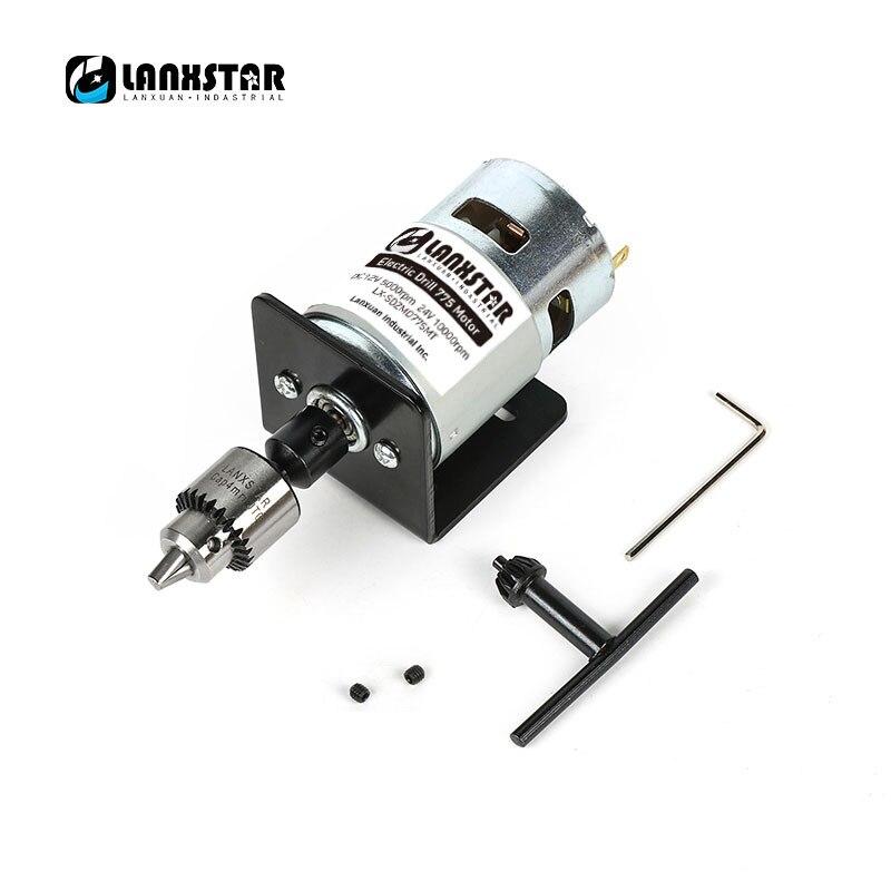 Nouveau DC 24 V 10000 tr/min 775 moteur Double roulements à billes Mini PCB perceuse à main perceuse mandrin 0.3 ~ 4mm JTO Miniature perceuse électrique