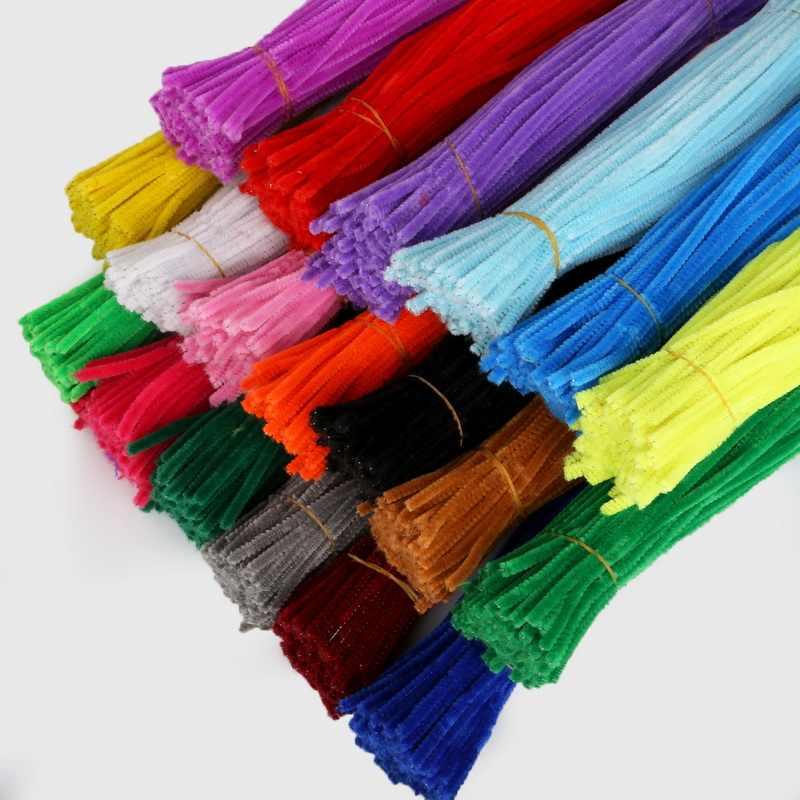 100pcs 30cm Chenille גבעולים צנרת שואבי ילדים בפלאש חינוכי צעצוע צבעוני צינור שואב צעצועים בעבודת יד DIY קרפט ספקי