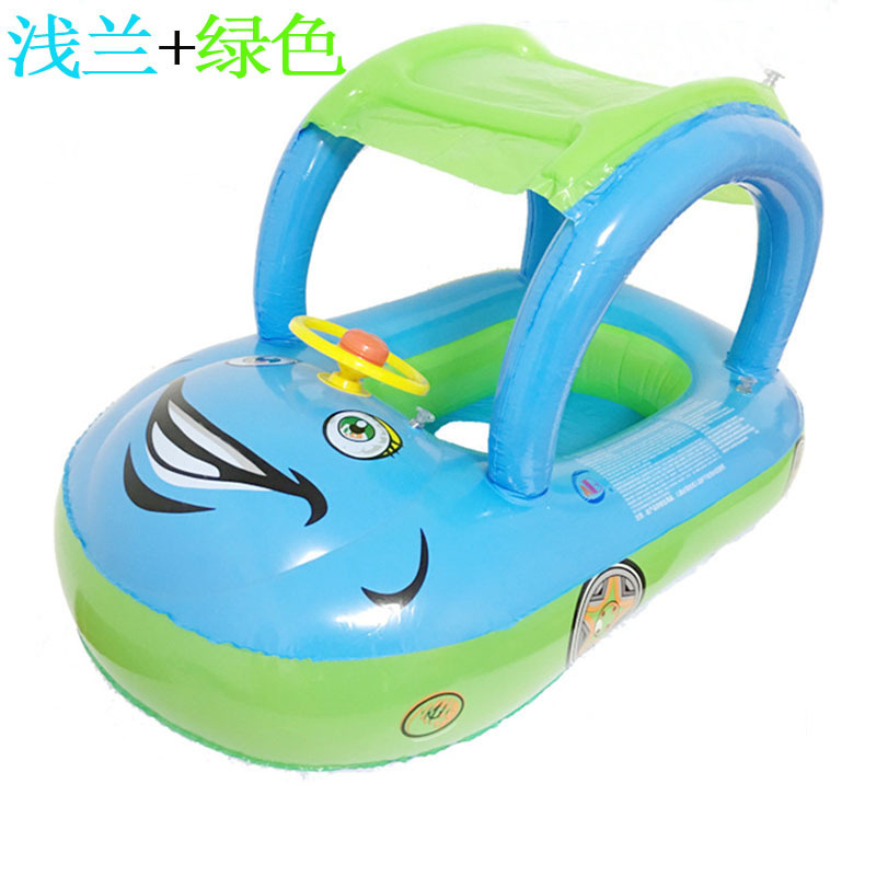 2018 Original Binding Quality ABC-1562 Baby Swimming Circle Bring Fluffy Car inflatable pool float