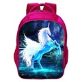 Special Offer Hot Sale Oxford 16-Inch Prints Animal Horse Teenager School Backpack Pink Girls School Bags for Children Schoolbag