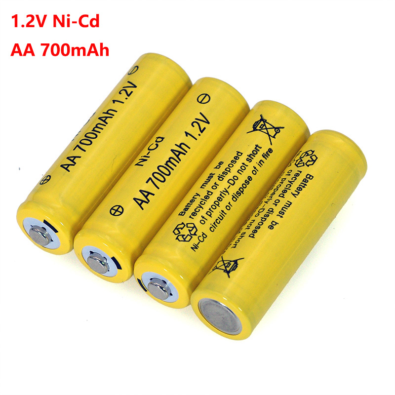 NI-CD AA Batteries 1.2v Rechargeable Nicd Battery 1.2V Ni-Cd Aa For Electric Remote Control Car Toy RC Ues