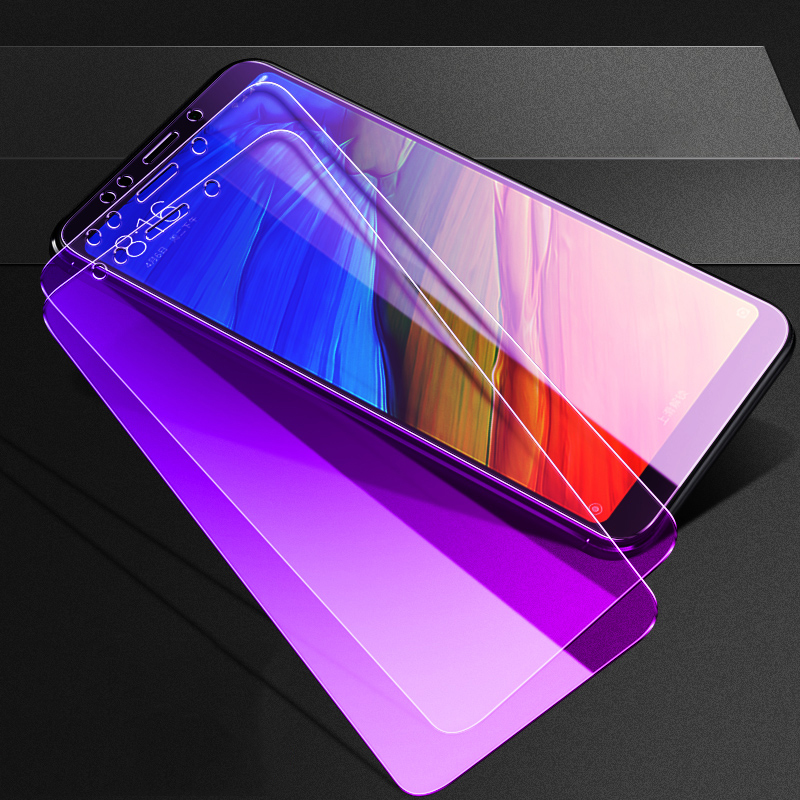 OriWood For Xiaomi Redmi 5 5A 5 Plus Full Cover 9H Front Anti Blue Tempered Glass Anti-blue Purple Light Screen Protector Film